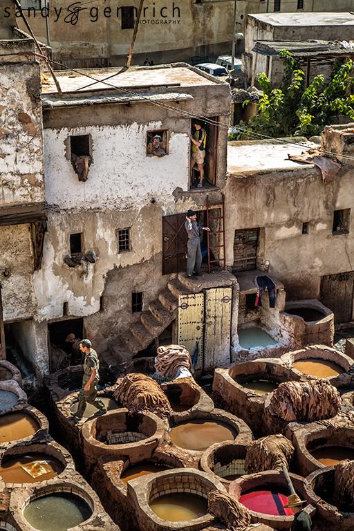 Dye PIts - Tannery - Fes el Bali - Morocco
