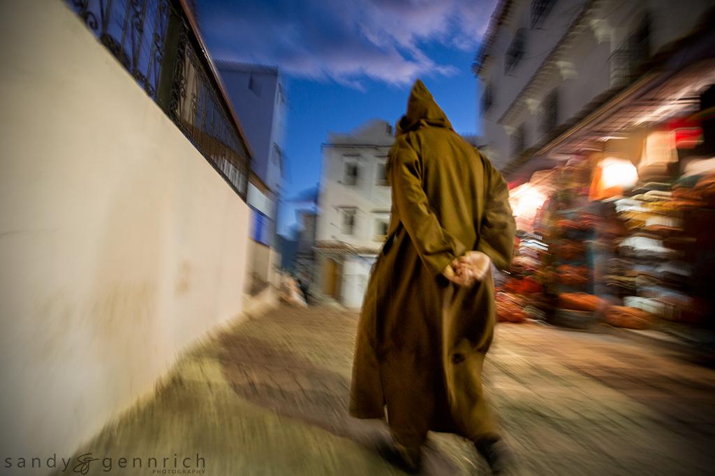 Evening Stroll - Chefchaouen Morocco